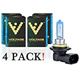 Voltage Automotive 9006 HB4 Headlight Bulb Polarize White Replacement - Professional Upgrade For Low Beam High Beam Driving Fog Light (4 Pack)