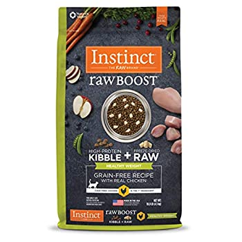 Instinct Raw Boost Healthy Weight Grain Free Recipe with Real Chicken Natural Dry Cat Food by Nature s Variety 10 lb Bag