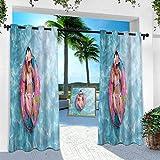 Aishare Store - Cortinas impresas al aire libre para bebé, niña durmiendo en la piscina, 84 pulgadas de largo con aislamiento térmico para patio porche Cabana (1 panel)