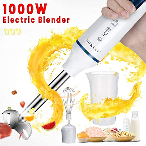 ACCLD Batidoras eléctricas 3 EN 1 1000W Mezcla de Huevo Licuadoras Home Mezclador de Cocina los Alimentos para niños Grinder palillo de Fruta Zumo de verdura
