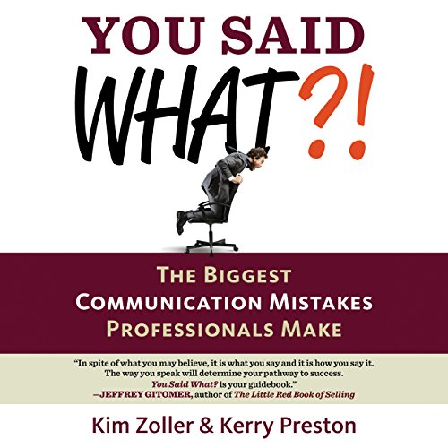 You Said What?! audiobook cover art