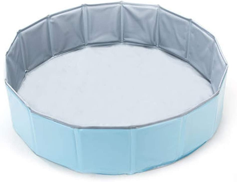 QiHaoHeji Piscina portátil para Perros Perro Bañera de hidromasaje Bañera Plegable Animal doméstico del Gato Mediana Grande Suministros for Perros baño del Perro (Color : Azul, Size : 80x20cm)