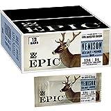 EPIC Venison Sea Salt and Pepper Bars, Keto Friendly, Gluten Free, 12 ct