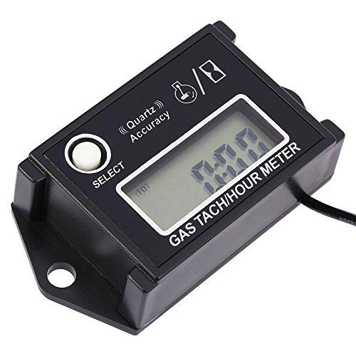 KKmoon Motor Digitaler Drehzahlregler【LCD Digitaler Drehzahlmesser/Tacho Tach/Stunde Meter u/min-Tester für 2/4-Takt-Motor Motorräder】