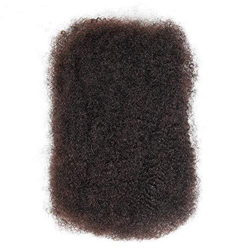 HUAQINEI Trenzas de Cabello Afro Cabello Humano a Granel Dreadlocks 50 g/Pieza para Extensiones de Cabello Afro Trenzado Giratorio 1 Lote Marrn Oscuro