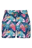 Mountain Warehouse Pantalones Rocky Estampados para Mujer - Pantalón Corto para Nadar de fácil Cuidado para Mujer, pantalón Corto de Playa con Cintura Ajustable Azul 56