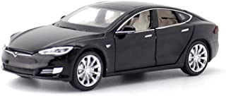 ANTSIR Car Model S 1:32 Scale Alloy diecast Pull Back Electronic Toys with Lights and Music,Mini Vehicles Toys for Kids Gift (Black)