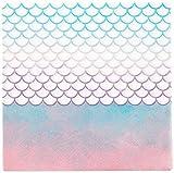 Procos- Tovaglioli a Forma di Sirena, 20 Pezzi, Colore Rosa, Blu, Bianco, 10067656