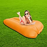 SUNSHINEMALL Inflatable Lounger Air Sofa Hammock - Portable Anti-Air Leaking & Waterproof Pouch Couch and Beach Chair Camping Accessories for Parties, Travel, Camping, Picnics,Large Size