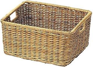 小物入れ 芒草 バスケット かご 収納 リビング 約28×23×14cm 00-25