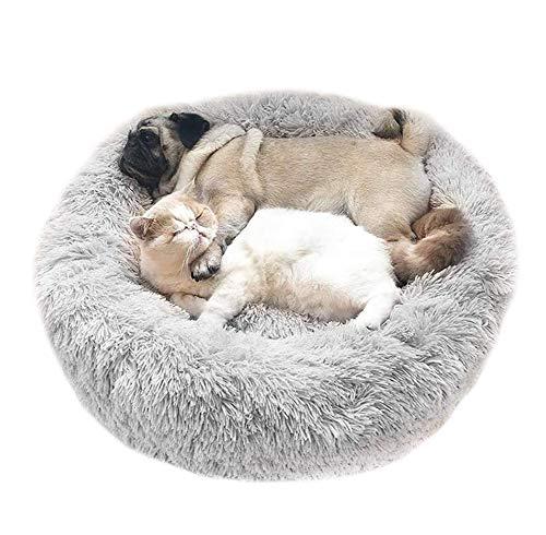 Monba Deluxe weich Haustierbett Hundebett für mittelgroße,große und extra große Hunde und Katzen,Warmes Hunde Sofa Rundes Plüsch Hundekissen Katzenbett in Doughnut-Form,Waschbar