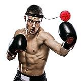 SEVENHOPE Boxen Training Ball mit Kopfband Elastisch, Reflex Fightball Boxtraining Ball für Praktische Ausbildung Speed Training/Zuhause und Outdoor