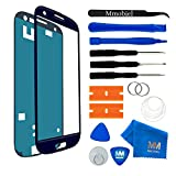 MMOBIEL Front Glass replacement compatible with Samsung Galaxy S3 (Blue) Display Touchscreen incl Tool Kit