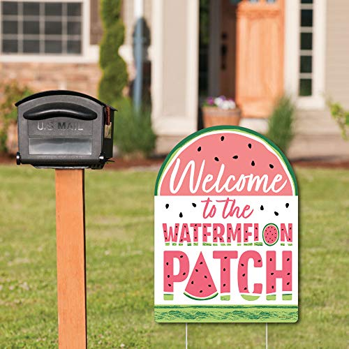 Big Dot of Happiness Sweet Watermelon - Party Decorations - Fruit Party Welcome Yard Sign