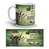 Kembilove Taza de Café del Mejor Guardia Civil del Mundo – Taza de Desayuno para la Oficina – Taza de Café y Té para Profesionales – Taza de Cerámica Impresa – Tazas Profesiones Guardias Civiles