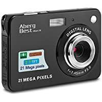 AbergBest 21MP 720p Digital Camera with 8x Optical Zoom (Black/Red)