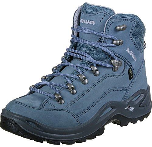 Lowa Renegade GTX Mid WS Mountain Boots for Women, Blue/Grey, Womens, 320945_39.5, Grey-Blue, 39.5 EU