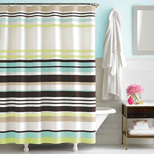 DS Vorhang Candy Stripe Vorhang für die Dusche, Polyester, aqua, 72