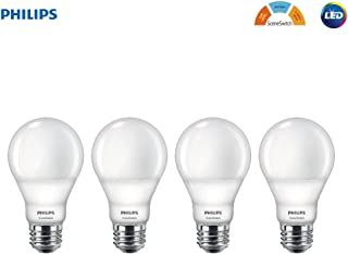 Philips LED 464867 60 Watt Equivalent SceneSwitch Daylight, Soft White, Warm Glow A19 LED Light Bulb, 4 Pack, Color Change, 4 Piece