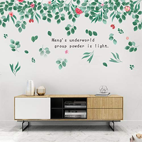 TAOYUE Leaves Flowers Wall Stickers PVC for Living Room Kids Room Home Decoration Wall Decal Home Decor Murals