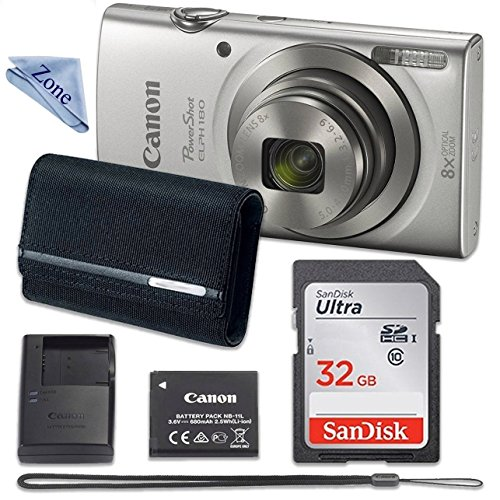 Canon PowerShot ELPH 180 Digital Camera (Silver)...