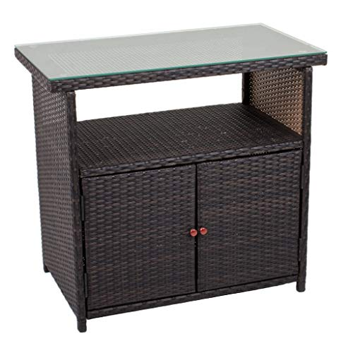 Gravidus Sideboard in Rattan-Optik, Coffee