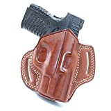 Premium The Ultimate Leather OWB Pancake Holster Open Top Fits, Springfield XD-S 3.3' 9mm 40SW/ 45ACP, Right Hand Draw, Brown Color #1419#