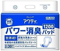 日本製紙 アクティ パワー消臭パッド1200 30枚 x4個 x1ケース Japan
