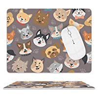 マウスパッド レザー 笑顔 犬柄 ゲーミングマウスパット ゲーム用 標準サイズ 光学マウス対応 おしゃれ デスクマット ゲーム/オフィス用 防水 滑り止め ファッショナブルで丈夫 多用途 高級感 耐久性が良い
