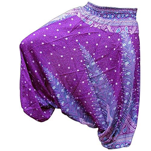 PANASIAM Aladin Pants, Print-Design-style: Peacock v11