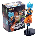 GYINK Película Dragon Ball Z Goku Blue Vs Dark Broly Blue Ver.Action Figura 21Cm,Pvc Super Saiyan Vegeta Battle