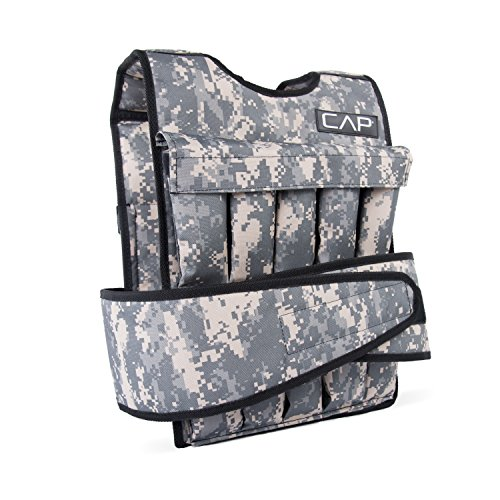 CAP Barbell 40-Pound Adjustable Weighted Vest, Camouflage