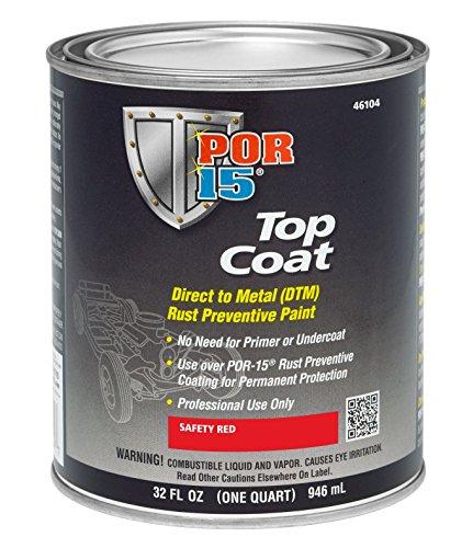 POR-15 46104 Top Coat Safety Red Paint 32 fl. oz.