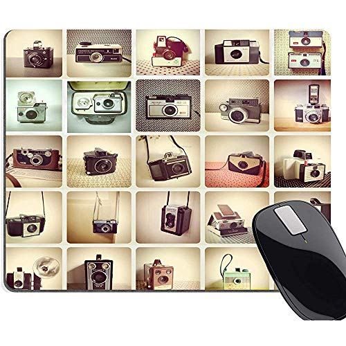 Gaming Mouse Pad Camera's, Vintage Camera Retro Collectie Kleurrijke Muis Pads