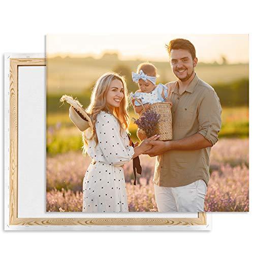 Leinwand bild mit foto selbst gestalten 60 x 40, eignes Foto auf Leinwand drucken Lassen Fotogeschenk, Wandbild mit Wunschmotiv personalisiert Querformat [128]