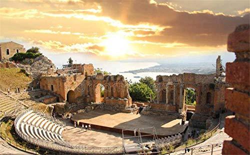 ZZXSY Puzzle 1000 Pezzi Teatro di Taormina, Sicilia, Italia È Un Ottimo Regalo