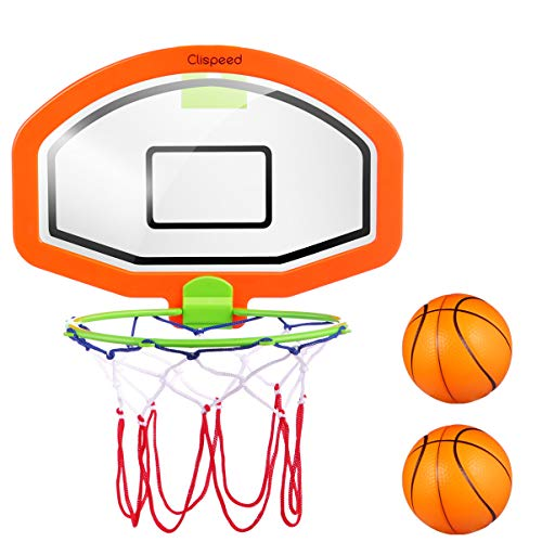 CLISPEED Mini Baskeballkörbe Backboard Basketball Hoop mit Bällen für Kinder Indoor Outdoor Fun