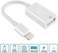 Adaptador USB Camera USB C a USB Adaptador   OTG a USB Hembra Cable Adaptador para Phone y  Pad White