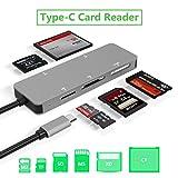 USB C Kartenleser, Bawanfa 5-in-1 Aluminium Kartenleser, Type C (5 GPS) Hochgeschwindigkeits Kartenleser mit TF/SD/MS / M2 / XD/CF-Speicherkarte Solt, Plug and Play
