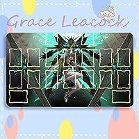 GraceLeacock カードゲームプレイマット 遊戯王 プレイマット ゼノブレイド 2 ヒカリ アニメグッズ TCG万能 収納ケース付き アニメ 萌え カード枠あり (60cm * 35cm * 0.2cm)