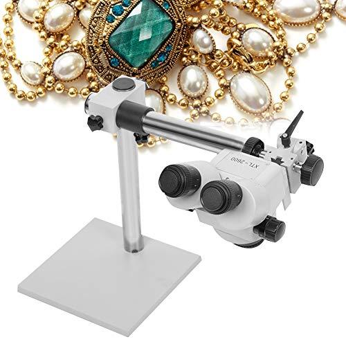 TMISHION 7X-45X sieraden Micro Inlaid Mirror, multidirectionele Continuous Zoom Binocular Stereomicroscoop voor sieraden instellen Verwerkinggereedschap