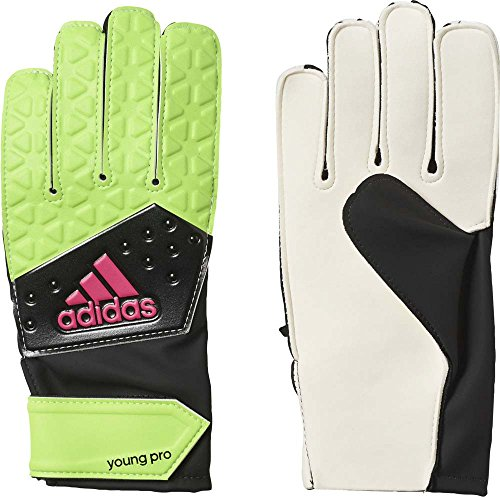 adidas Kinder Handschuhe Ace Young Pro Torwarthandschuhe, Solar Green/Core Black/Shock Pink S16/White, 7.5
