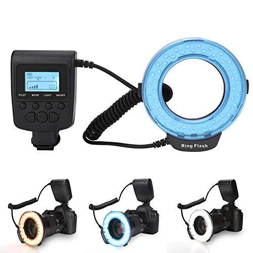 143 Makroblitz vom Typ LD-48-Ring Ring Flash Led Ring Flash 3 Farben Sanftes Licht, für Fuji Ringlicht, Nikon, Canon, Olympus, Panasonic, DSLR-Kameras