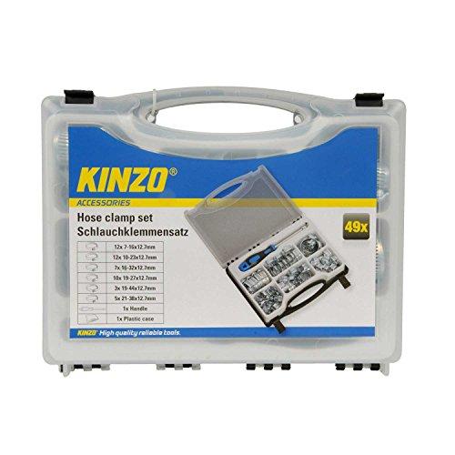 Kinzo Schlauchklemmensatz 51-teilig mit Schraubendreher Schlauchschellen Box