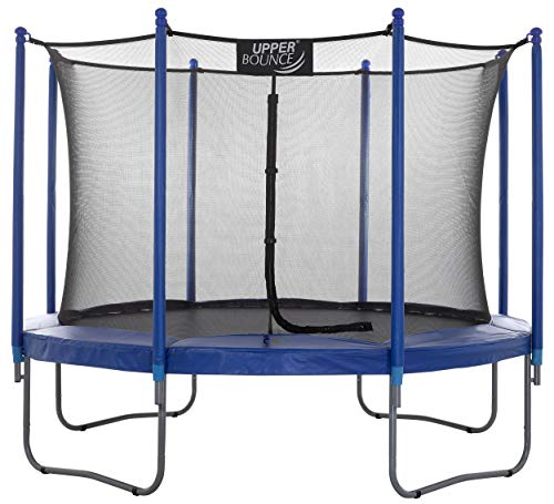 Upper Bounce Enclosed Trampoline with Safety Net System – Outdoor Trampoline - ASTM Certified Backyard Trampoline for Kids - Adults – Variant Color Spring Cover Padding