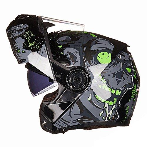 WEGCJU Casco De Motocicleta para Hombres Y Mujeres De Seguridad Auricular Bluetooth...