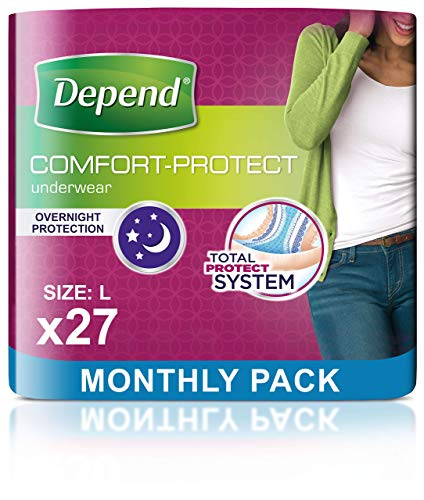 Depend Comfort Protect Incontinence Pants for Women, Large - 27 Pants