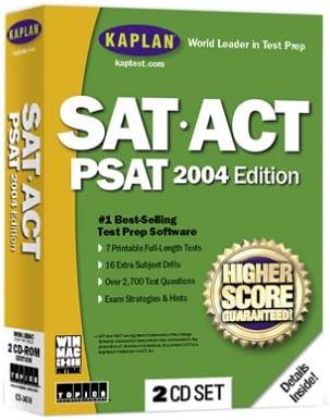 Kaplan SAT ACT PSAT Max 42% OFF 5% OFF Standard Edition 2004