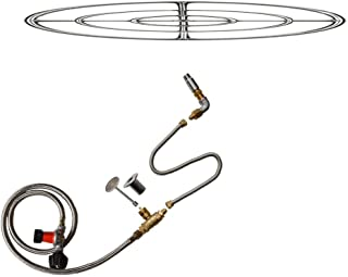 Stanbroil LP Propane Gas Fire Pit Stainless Steel Burner Ring Installation Kit, 30-inch