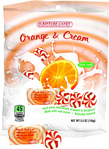Scripture Candy, Orange and Cream 5.5 Ounce Bag, 25 Pieces